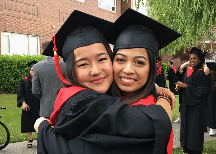 高校留学カナダ卒業式